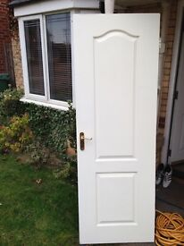 Cream/White Door 78in x 27in - FREE pickup only
