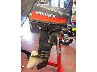 Mariner 25 Long Shaft Outboard Motor