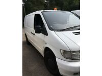 Mercedes Vito 2001 Van Diesel Leisure Battery, Race / Camper conversion? Injectors need attention