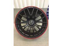 "Mercedes 19"" Alloys Black Edition £550"