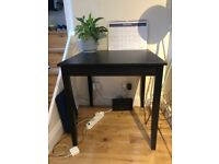 IKEA LERHAMN black-brown square dining table set + 2 chairs