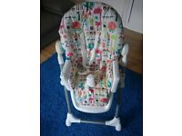 Mamas And Papas Snax Highchair -Adjustable Height & Removable Tray