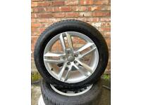18 inch AUDI S-line ALLOYS AND TYRES