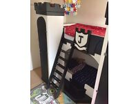 Knights Castle Prince bunk bed/ cabin bed with wardrobes in towers