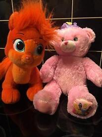 2 Disney Princess build a bear Teddys Toys Plush palace pet