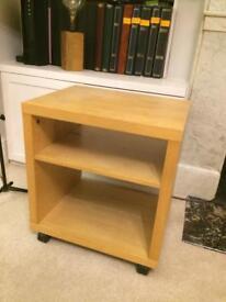 Wooden table bedside /TV side unit pine