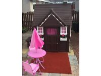 Child/Kids Backyard Cedar Wooden Playhouse - Excellent Condition, lots of extras.