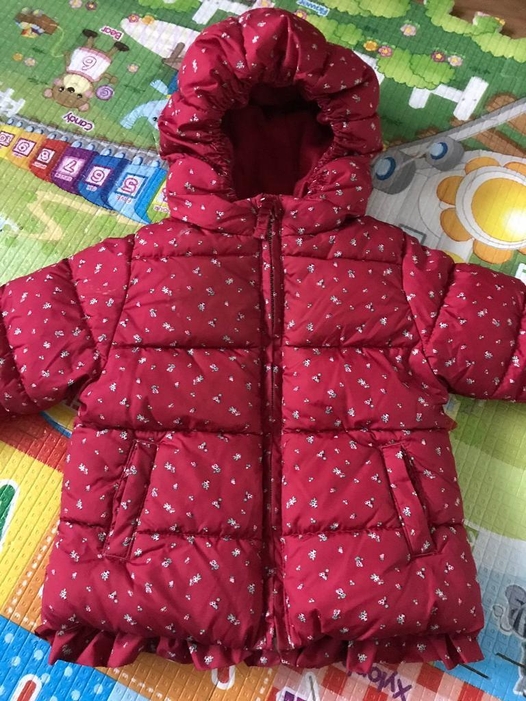 e295f1e3deb3 Next 9-12 Months Baby Girls Red   Burgundy Floral Coat