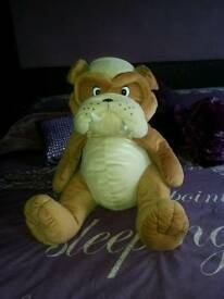 Bulldog teddy bear