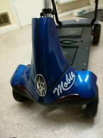 Mobie mobility scooter in blue