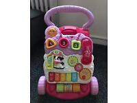 VTech pink first steps baby walker