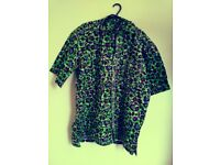 Male shirt 100% cotton fabric, hand made size large