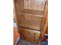 Solid pine 2 door/3 drawer cupboard