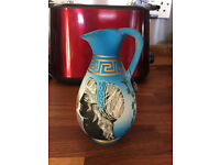 small blue jug made in greece