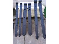 18th century wrought iron hand made gate hinges