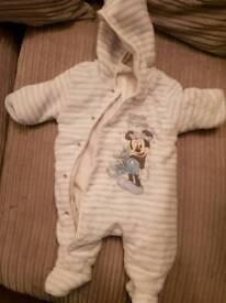 Disney snow suit 0-3 months