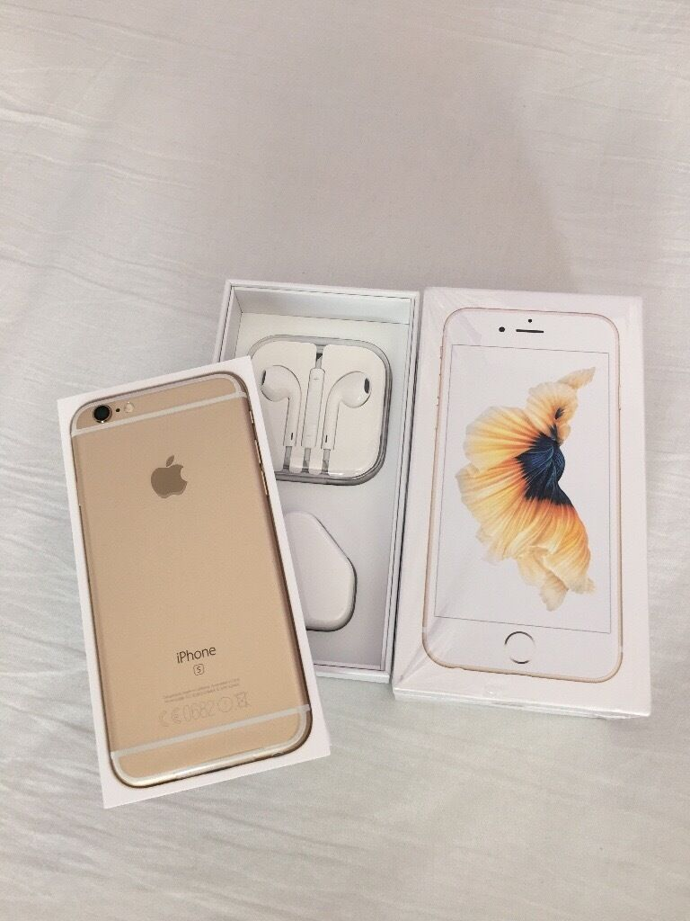 iPhone 6S Gold Factory Unlocked sim free in box with all accessories for salein LondonGumtree - iPhone 6S Gold Factory Unlocked sim free in box with all accessories for sale iPhone 6S 16GB Gold colour brand new condtion and comes completely in box Comes in box with all accessories Its factory unlcoked to all network, Sim Free If youre...