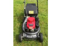 "Honda Pro self propelled lawnmower 21"" cut alloy deck commercial mower in excellent condition"