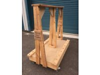 HEAVY DUTY TROLLEY ON CASTERS CAPABLE OF HOLDING PROBABLY 350KG OF MATERIALS