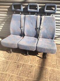 Van triple seats wh seat belts
