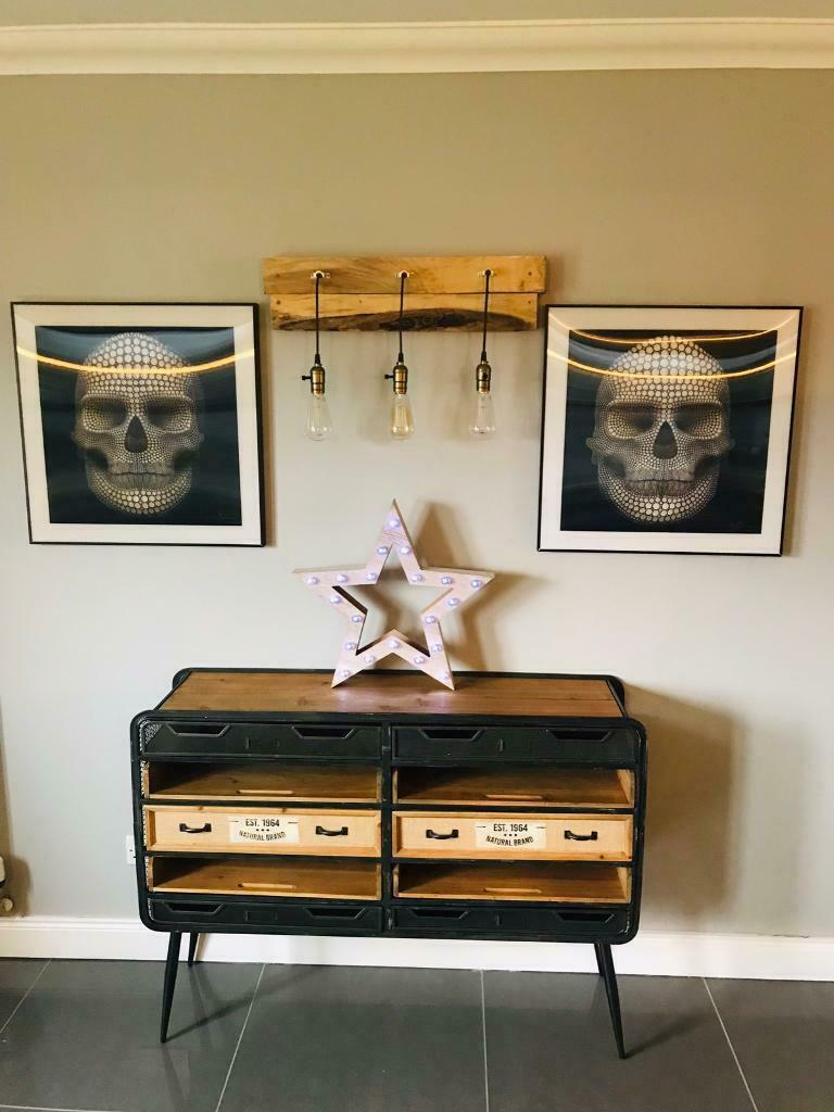 Industrial Black Metal And Wooden Sideboard New In Dunfermline Fife Gumtree