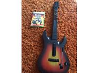 Xbox 360 guitar hero game and guitar