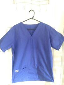 Unisex scrub top size S BLUE