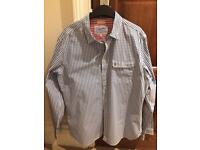 Men's large joules navy checked shirt