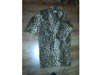 NINIVAH KHOMO LADY LEOPARD PRINT COAT, USED, MORE SHOES AND HANDBAGS FOR SALE, £125, WIMBLEDON
