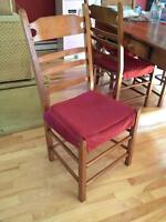 6 Chaises de cuisine (reproduction d'antique)