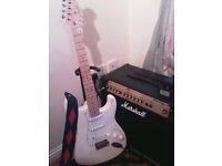 Fender American Stratocaster made in Corona California with Marshal amp.