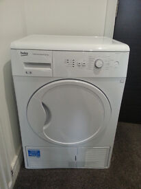 Beko DCU6130W white 6kg Energy B-rated condenser tumble dryer with sensor - as new