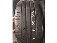 225 40 18 FITTED AND BALANCED BS3 4DN 01179533318 PART WORN GOOD QUALITY USED TYRE