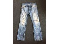 Men's Diesel Zatiny Jeans - Distressed W31 L32
