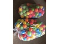 Ball pit balls (two bags)