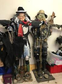 Male and Female Scarecrows