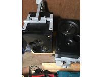KEF Coda speakers with wall brackets