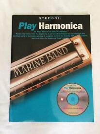 Play Harmonica instruction book includes CD brand new never used