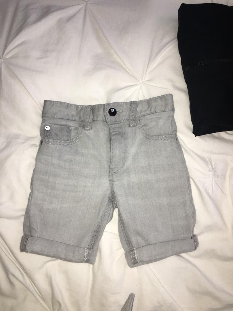Grey denim short next age 5