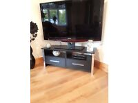 Tv Stand black with two drawers for storage