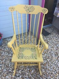 Rocking chair hand painted