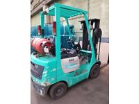 Mitsubishi 1.5 ton 3 stage mast gas forklift truck