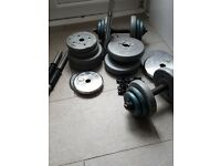 Weights, dumbells, barr etc.