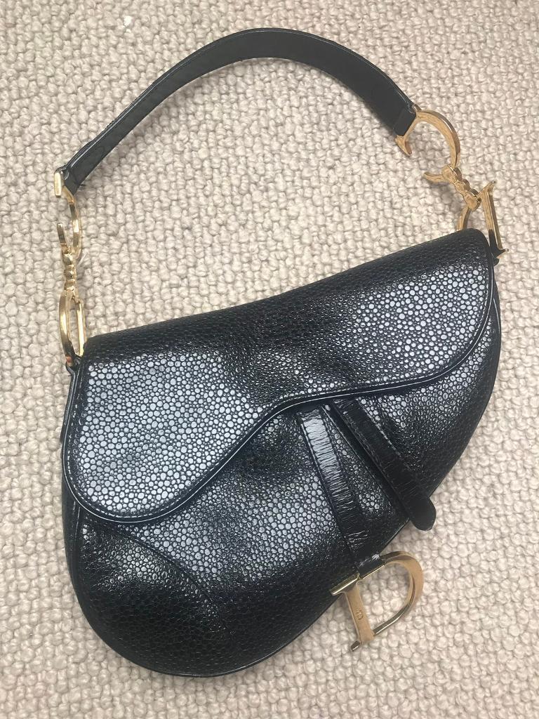Genuine original vintage Christian Dior saddle bag in rare leather  88bbc82a03db