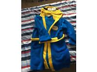 Minion dressing gown age 6-7