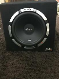 Vibe 12 inch slick subwoofer with built in amp