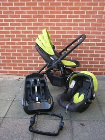 Evo Graco travel system - front/rear facing plus car seat, isofix and adapter