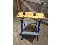 Workmate type fold down work bench