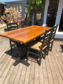 Vintage hand painted table and chairs