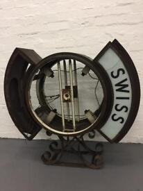 Huge antique London wall smiths clock double sided vintage retro style